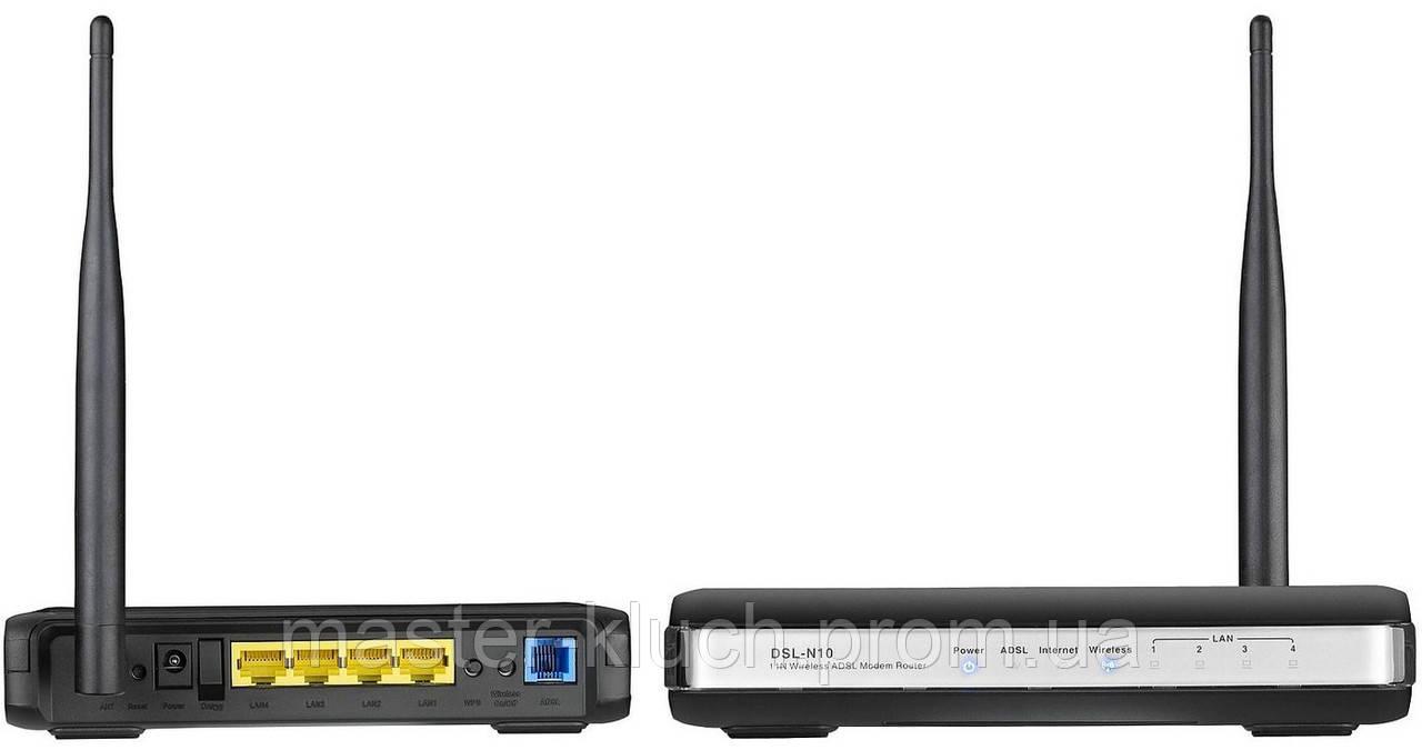 Модем-роутер ADSL Asus DSL-N10 ADSL2+, 4 LAN, Wi-Fi 802.11 g/n 150 Mb