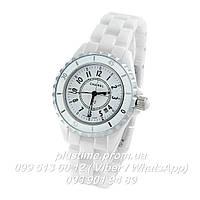 Керамические наручные часы Chanel j12 White