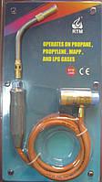Горелка RTM 1660 под MAПП газ с шлангом 1.5м.