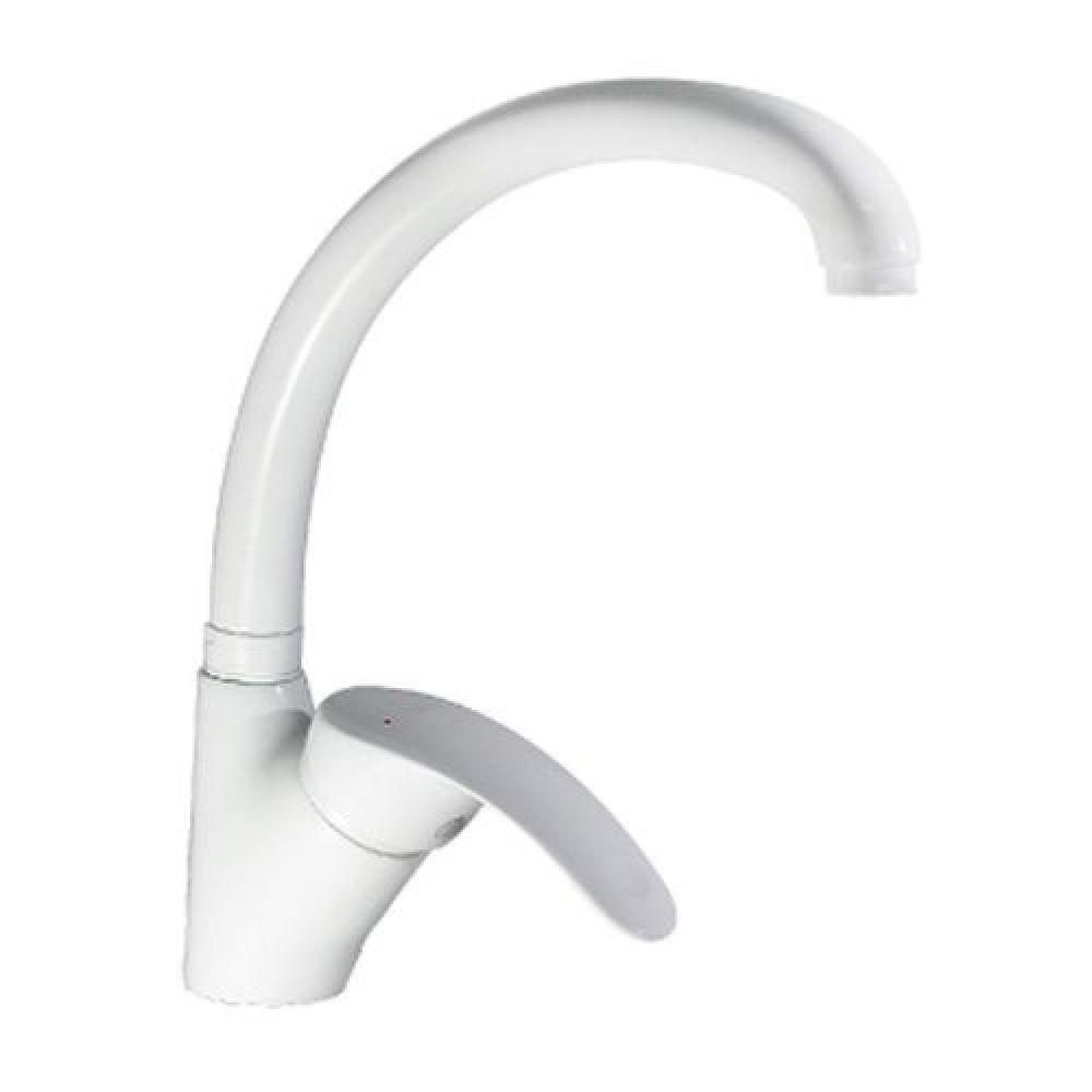Змішувач для кухні кухонної мийки Haiba Mars 011 White білий