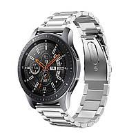Ремешок браслет для смарт-часов BeWatch стальной для Samsung Galaxy Watch 46 мм Серебро (1020405), фото 1