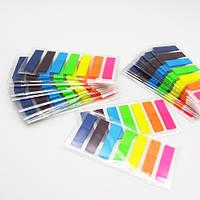 """Закладки - стикеры для заметок """"Leaf"""" неон, размер 44*12мм, 7х25л, бумага для заметок, бумага и изделия из бумаги"""