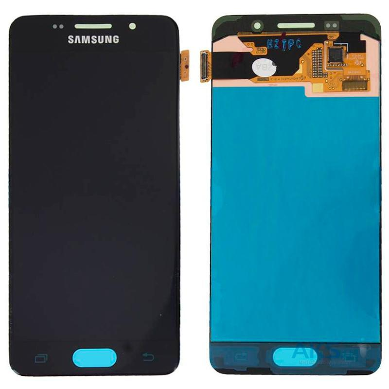 Дисплей і сенсор (модуль) на Samsung A310, A3 - 2016 чорний