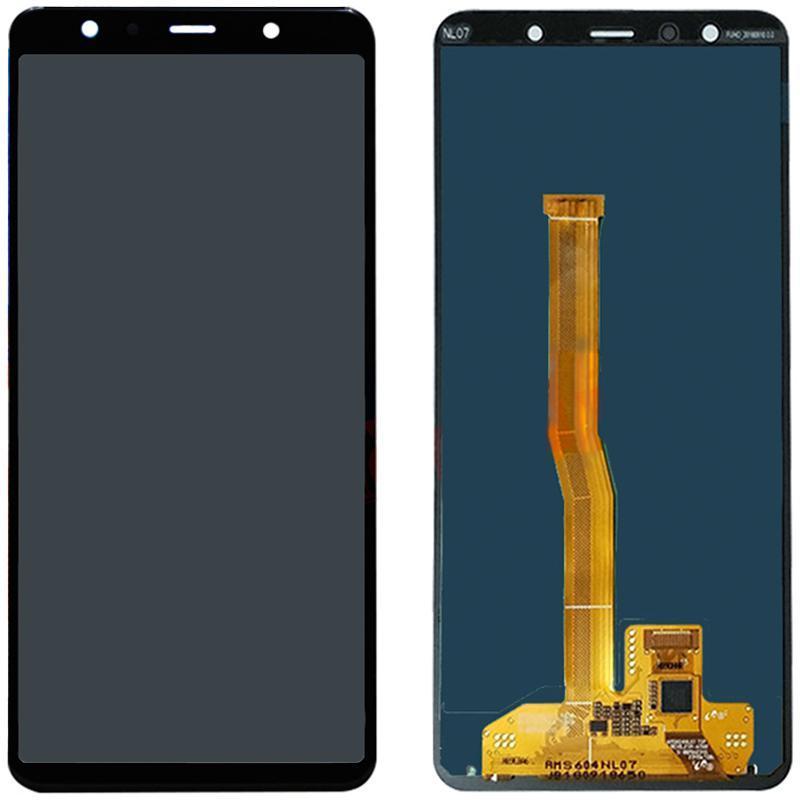 Дисплей и сенсор (модуль) на Samsung A750, A7 - 2018 черный