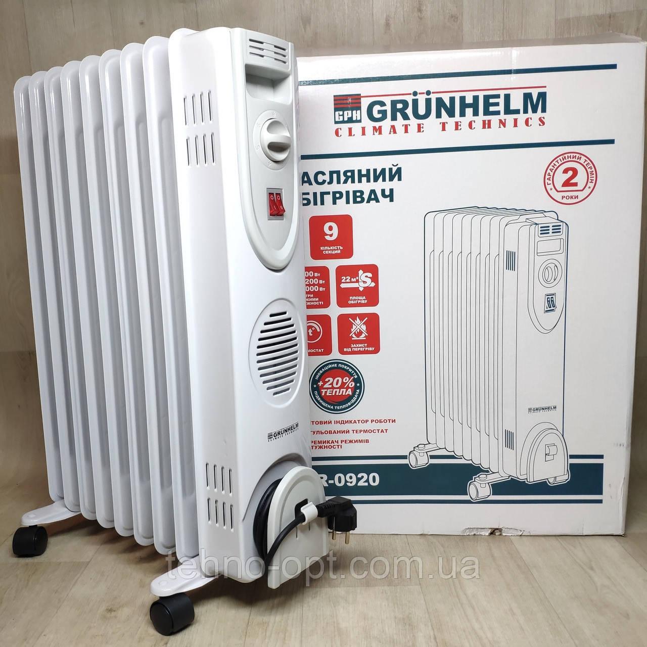 Напольный масляный обогреватель Grunhelm GR-0920 ( 9 секций