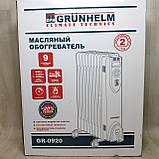 Напольный масляный обогреватель Grunhelm GR-0920 ( 9 секций, фото 8