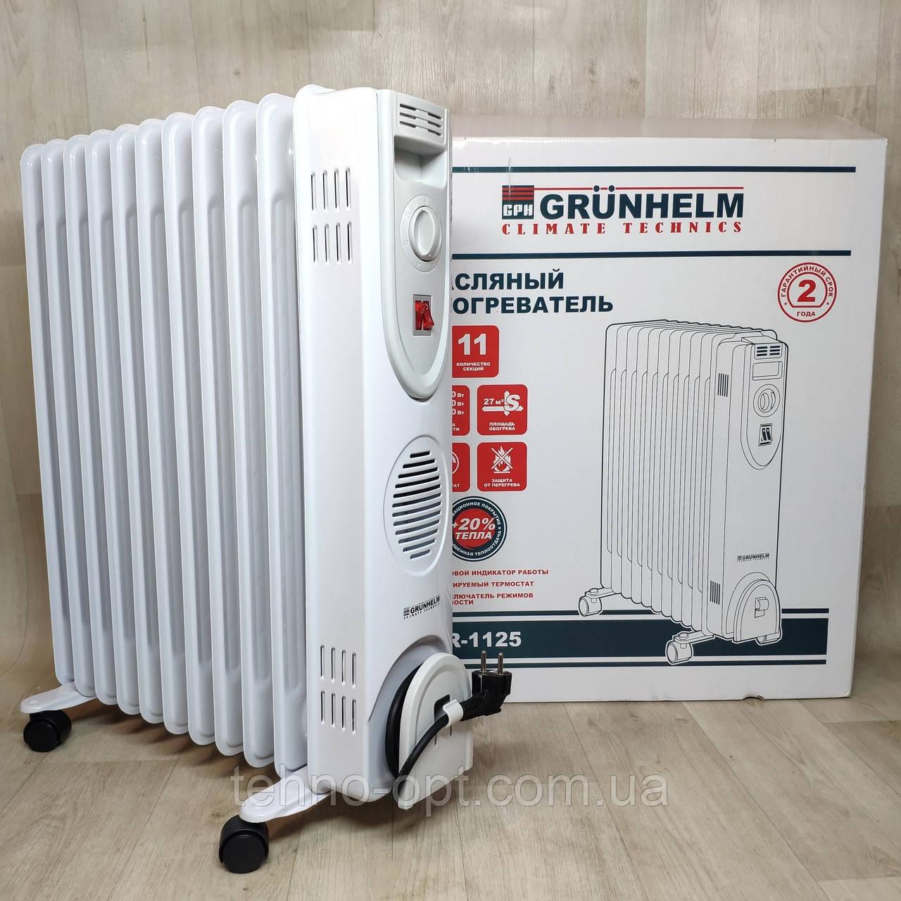Напольный масляный обогреватель Grunhelm GR-1125 (11 секций)