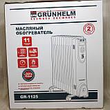 Напольный масляный обогреватель Grunhelm GR-1125 (11 секций), фото 6
