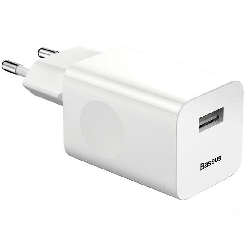 СЗУ 1USB Baseus Charging QC (2.4A) (CCALL-BX02) White