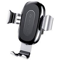 Холдер Baseus Wireless Charger Gravity Heukji Car Mount (WXZT-01) Black
