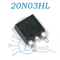 MTD20N03HL, Mosfet транзистор N-канал, 30В 20А, TO252