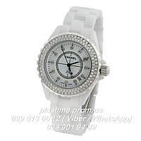 Наручные часы керамические Chanel j12 White Diamond