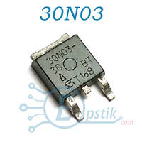 SUD30N03-30, MOSFET транзистор N channel, 30V 30A, TO252