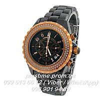 Керамические часы Chanel j12 Chronograph time