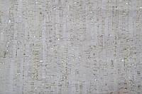 Пробковые обои 1м*10м Lineas White на бумажной основе