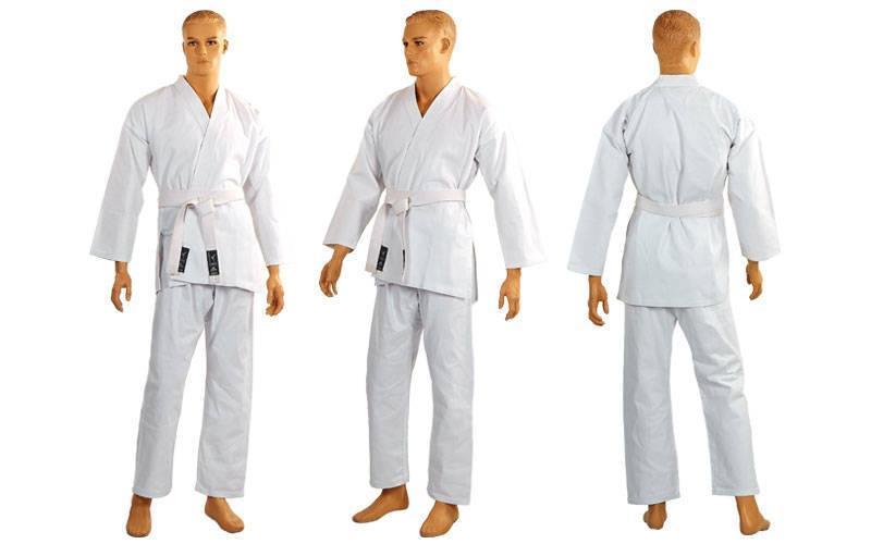 Кимоно для каратэ белое MATSA MA-0016 рост 130