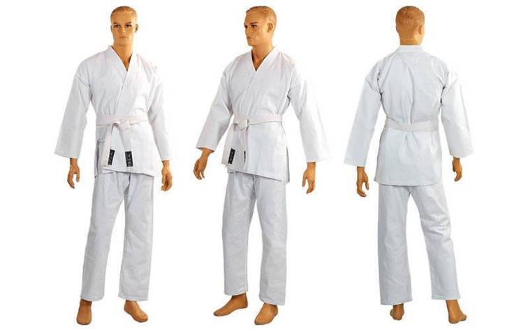 Кимоно для каратэ белое MATSA MA-0016 рост 130, фото 2