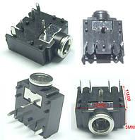 Гнездо 3.5 мм стерео 5 pin 3F07