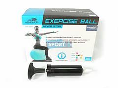 Мяч гимнастический powerplay фитбол + насос  4001 65 см  голубой