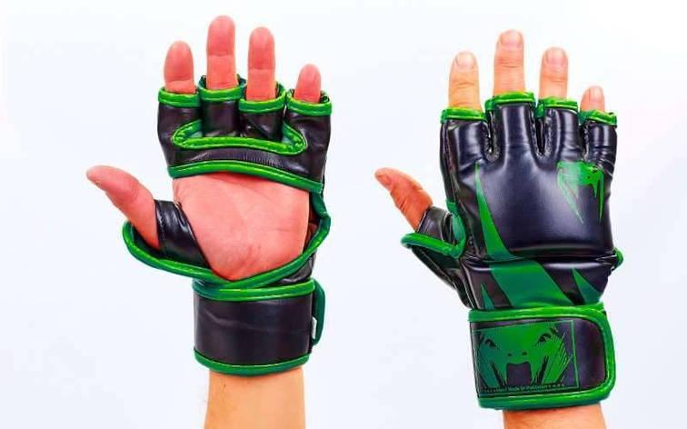 Перчатки для смешанных единоборств MMA FLEX VENUM CHALLENGER VL-5789 (L, Салатовый), фото 2