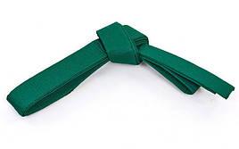 Пояс для кимоно Champion зеленый CO-4075 (хлопок, полиэстер, длина-260-300см) (3, длина 260см)