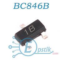 BC846B, (1B), биполярный транзистор, NPN, 80В, 0.1А, SOT23
