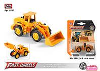 Трактор 'Фронтальный Погрузчик' 6537 (216) Play Smart, металлопластик, на листе