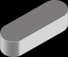 Шпонка призматическая | DIN6885A Шпонка 6x6x45 A4 [N9500000N950606450]