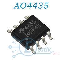 AO4435, MOSFET транзистор P канал, 30В, 10А, SOP8