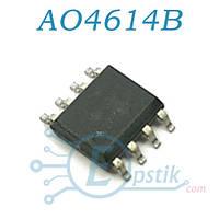 AO4614B, Mosfet транзисторная сборка, N+P-канал, 40В, 6А/5А, SOP8
