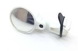Зеркало Spelli SBM-4066 Белое, круглое, крепление хомут