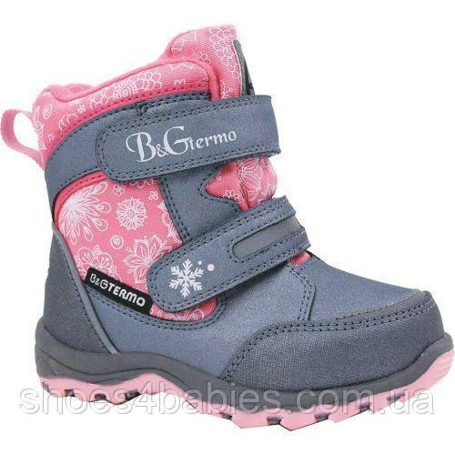 Термосапожки зимние для девочки B&G termo (Би Джи) р. 28 - 18см модель HL209-809