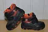 Ботинки демисезонные на мальчика 21 р  арт 98033(1399)  черные., фото 3