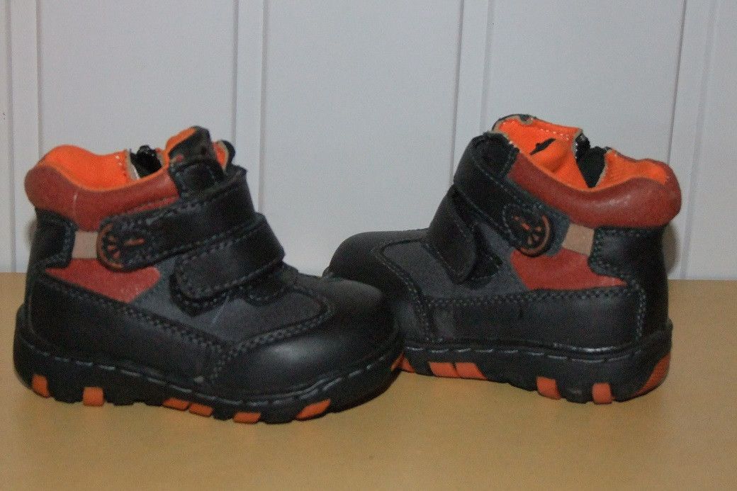 Ботинки демисезонные на мальчика 21 р  арт 98033(1399)  черные.