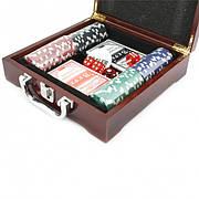 Покер в дереве 100 керамических фишек