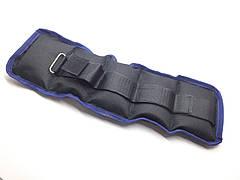Утяжелители на липучке, (чёрный с синим) - 1 кг (вес и цена за пару). Украина