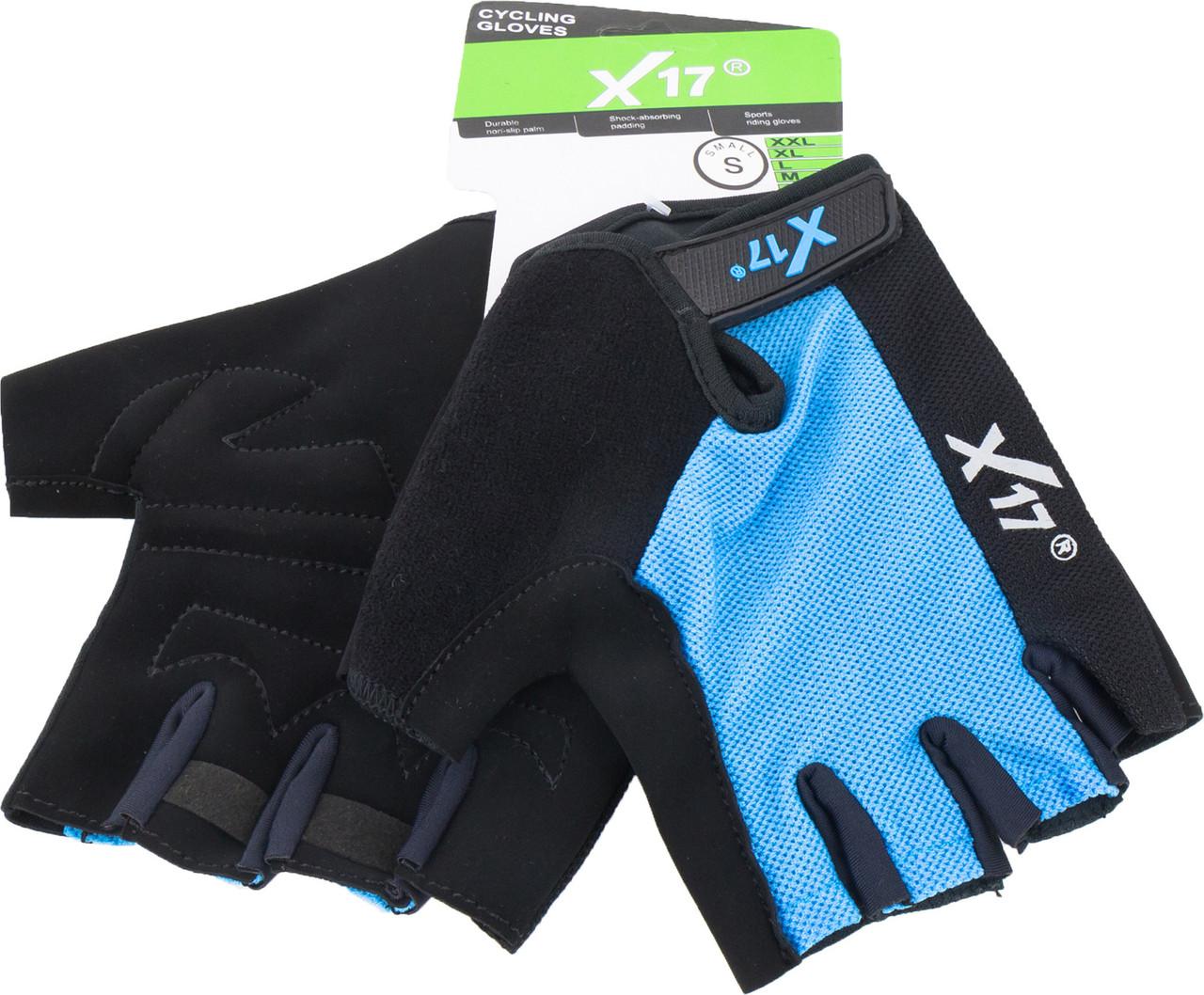 Перчатки велосипедные X17 XGL-527BL сине-черные, M