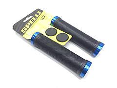 Грипсы Spelli SBG-6703-Lock, Черные на синих замках