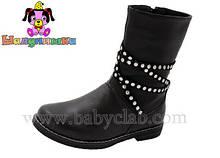 Демісезонні шкіряні чобітки на дівчинку 32-37 Шалунішка