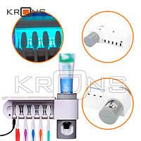 UV Стерилизатор зубных щеток + дозатор зубной пасты