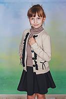 Жакет для девочки бежевый, фото 1
