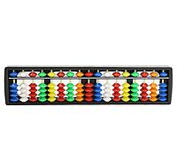 Счеты абакус соробан  с цветными косточками ментальная арифметика 17 рядов Game toys