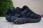 Мужские зимние кроссовки Merrell Moab (черные) - Термо (без меха), фото 3
