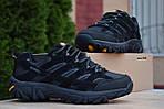 Мужские зимние кроссовки Merrell Moab (черные) - Термо (без меха), фото 4