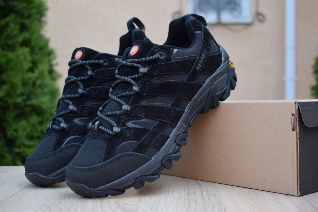Мужские зимние кроссовки Merrell Moab (черные) - Термо (без меха)