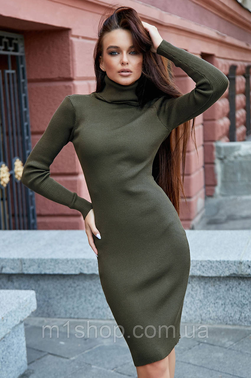 Женское трикотажное платье-гольф под горло (3696-3705-3704 svt)