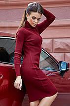 Женское трикотажное платье-гольф под горло (3696-3705-3704 svt), фото 2