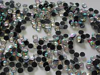 Акриловые стразы.ss 6 Crystal AB (1,6-1,9мм)горячей фиксации. 1000gross/144.000шт.Китай