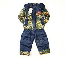 Детский демисезонный комбинезон куртка и штаны для мальчика хаки 4-5 лет, фото 2