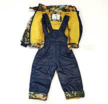 Детский демисезонный комбинезон куртка и штаны для мальчика хаки 4-5 лет, фото 3